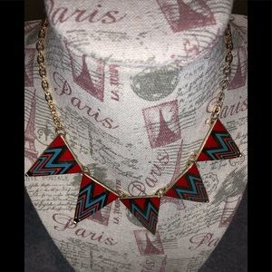 Colorful triangles designs necklace